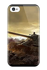 Hot Design Premium HHQmwSc1024iISUT Tpu Case Cover Iphone 4/4s Protection Case(tank)