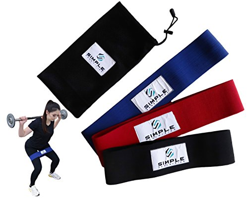 Big Booty Bands for Women and Men - Hip Resistance Band Set - Low, Medium, High Resistance Hip Bands - Set of 3 with Carrying Case - Muscle Building for Glutes, Hips, and Legs by - Simple_Serenities