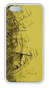 iPhone 5S Customized Unique Landscape Flowers Windmills New Fashion TPU White iPhone 5/5S Cases