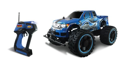 NKOK Mean Machines Ford F-150 SVT Raptor Remote Controlled Vehicle, 1:10 Scale