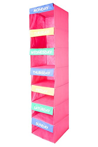 Saganizer DAILY ACTIVITY ORGANIZER Kids 7 Shelf Portable Closet Hanging Organizer Great Solutions