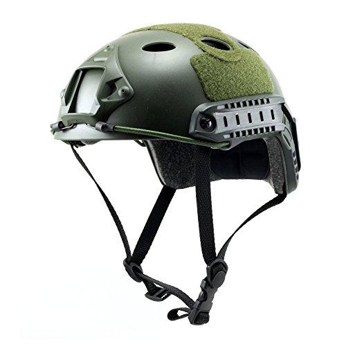 Tactical Crusader Lightweight Tactical Helmet, Green, Fully