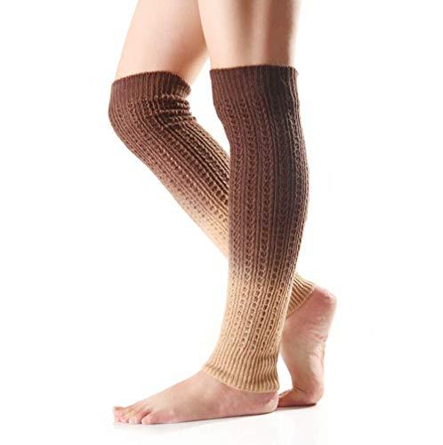 Nanxson Damen Strick Warmer Leggings farbverlauf Beinstulpen Stulpe Mehrfaribig Beinwärmer TTW0038