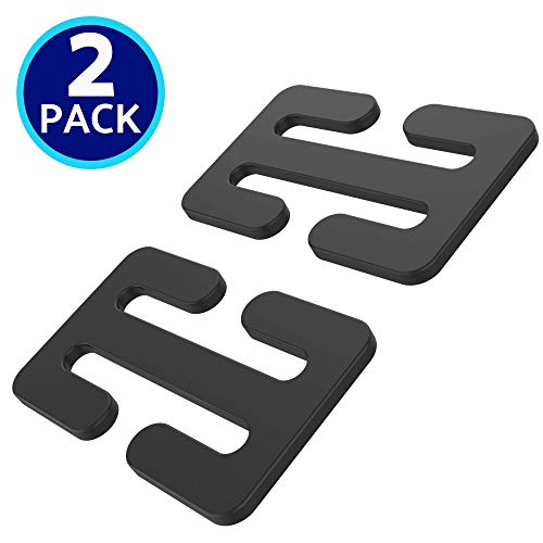 Metal Seatbelt Lock Adjuster Clips (2-Pack, Black Metal) Locking Clips for Car Seatbelt Clip Adjuster Lock, by journeyxl