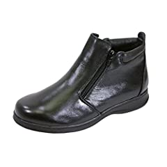 afac4c4cfd48 FIC Juliet Women Wide Width Leather Casual Ankle Boots (Size   Measurement  Guides Available)
