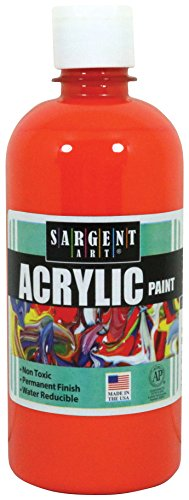 Sargent Art 24-2414 16-Ounce Acrylic Paint, Orange