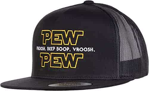 79b05565a2e187 Pew Pew Wars | Funny Sci-fi Space Star Noises Science Geeky Cap, Nerdy