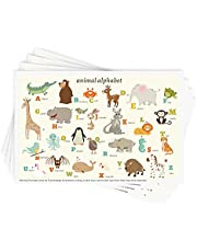 """Disposable Stick-on Placemats 40 Pack for Baby & Kids, Restaurant Table Topper Mat 12"""" x 18"""" Sticky Place Mats, Toddler Baby Placemat"""