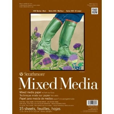 3 Pack 11 x 14 Mixed Media Drawing Pad (Product Catalog: Paper Media, Canvas & Surfaces)
