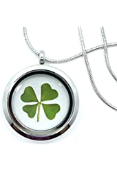 Real 4 Leaf Clover Necklace - Shamrock, Lucky, Ireland, Natural, Clover, Pendant