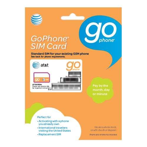 AT&T GoPhone Prepaid SIM Card Starter Kit - BYOP