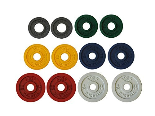 Ader Precision Color Metal Olympic Kilo Gram Plates