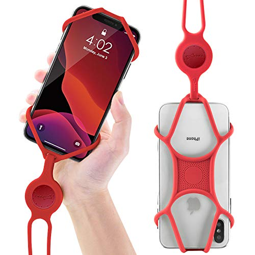 Universal Cell Phone Lanyard Holder, Silicone Neck Strap Smartphone Case for iPhone Xs Max XR X 8 7 6S Plus Samsung Galaxy S10 S9 S8 Note 9 Pixel 3 XL, Phone Tie Series (Red) (Moving Iphone 4 Case)