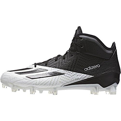 Adidas Adizero 5-sterren 5.0 Mid Heren Voetbal Cleat Zwart / Wit