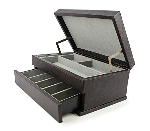 Executive High class Cufflink Case & Ring Storage Organiz...
