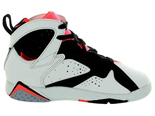Nike Jordan 7 Retro Gp, Zapatillas de Deporte Para Niñas Blanco / Negro / Rojo (White / White-Black-Hot Lava)