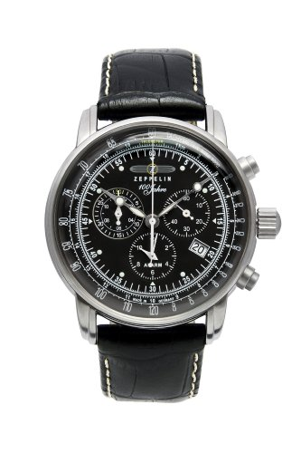 GRAF Zeppelin Chronograph and Alarm Watch (Black) ()