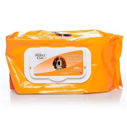 8IN1 BATH WIPES DEOD DOG 100PK, My Pet Supplies