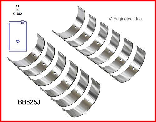 ENGINETECH BB625J CONNECTING ROD BEARINGS (SIZE:010) compatible with 1973-2011 FORD MAZDA 2.8L 2.9L 4.0L V6 12-VALVE