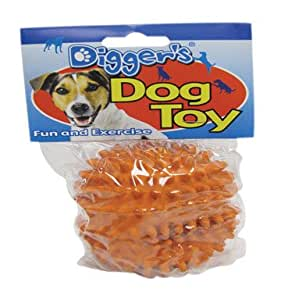 Diggers Dog Toy Spiked Ball Latex