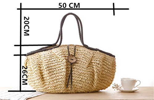 Capacity Army Bag Shoulder Bag Green Women Weave Handbag Amuele Straw Large wqzF4tCx