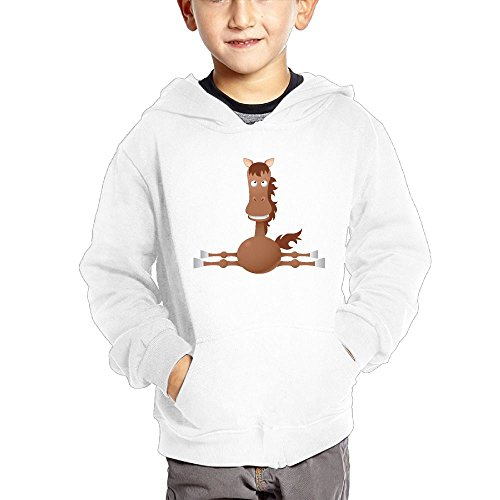 Horse Splits Kid's Fashion Popular Hooded Hoodies With Pocket ()
