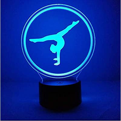 Creative 3D Gymnastics Night Light 7 Colors Changing USB Power Touch Switch Decor Lamp Optical Illusion Lamp LED Table Desk Lamp Children Kids Brithday Christmas Gift: Home & Kitchen