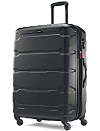 Omni PC Hardside Expandable Luggage with Spinner Wheels, Black, Checked-Large 28-Inch
