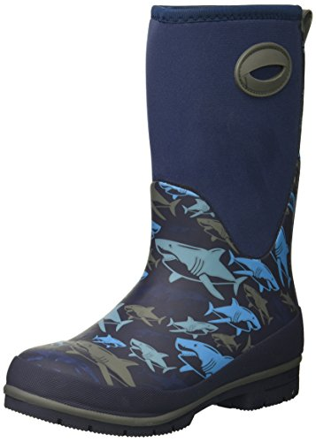 Western Chief Kids Cold Rated Neoprene Boot with Memory Foam Snow, Shark Attack, 12 M US Little Kid