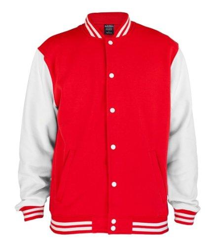 Uomo Urban College 2 Rosso Tone Classics Felpa bianco Sweatjacket Bekleidung Uq7qFIw0