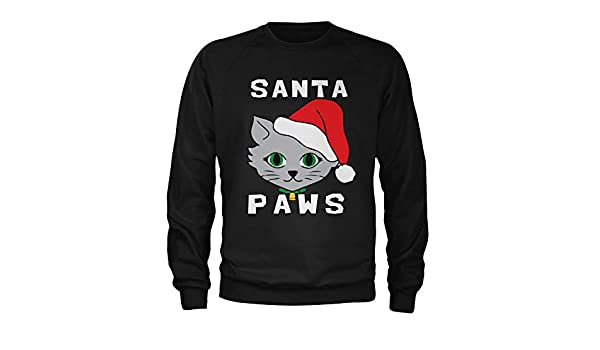 Motivated Culture Santa Paws Cat Kitten Ugly Christmas Crewneck Sweatshirt