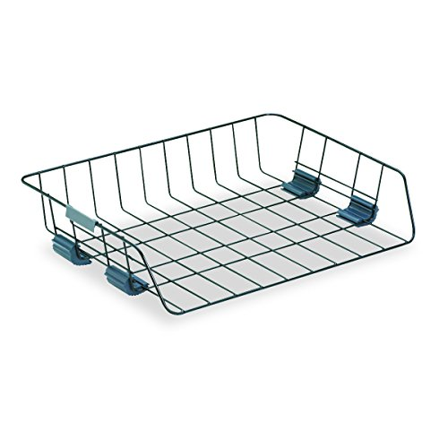 - Fellowes Workstation Wire Tray, Side Load, Letter, Black (62112)