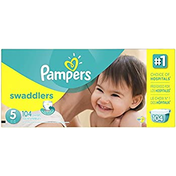 Pampers Size 5 Swaddlers Diapers, 104 Count