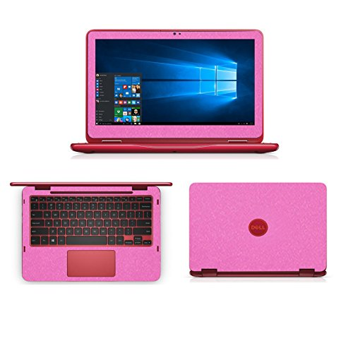 Sparkling Pink Fiber skin decal wrap skin Case for Dell inspiron 11 3000 series 3168 3169 11.6 2 in 1 Laptop