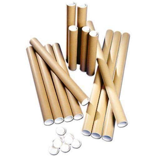 Tubo di cartone postale + plastica bianco tappi A0 865 mm x 76 mm (confezione da 10) EGS