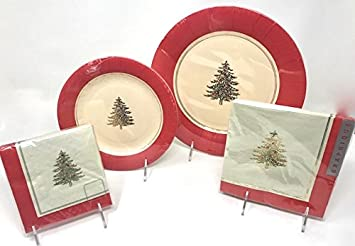 56-Piece Graphique Holiday Disposable Dinner Plates Salad Plates Napkins Dinnerware Set - & Amazon.com: 56-Piece Graphique Holiday Disposable Dinner Plates ...