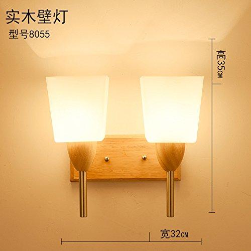 HRCxue Der Kopf des Bettes Wandleuchten LED-modernen, minimalistischen kreative Holz- künste Schlafzimmer Wohnzimmer eine Straße Corridor Hotel Wandleuchten 32  35 cm