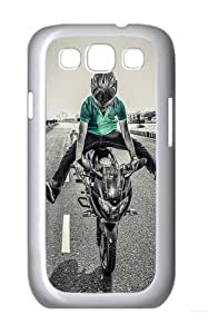Moto Spread Custom Hard Back Case Samsung Galaxy S3 SIII I9300 Case Cover - Polycarbonate - White
