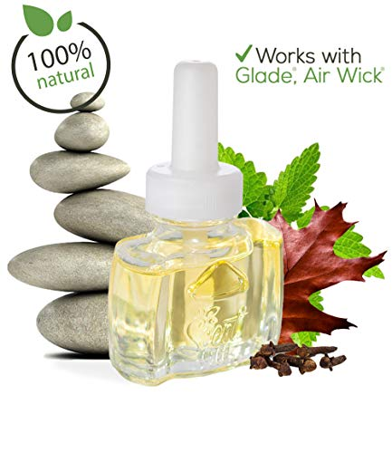 Scent Fill (3 Pack) 100% Natural Patchouli Spa Plug in Refill - Fits Air Wick Scented Oil Warmers