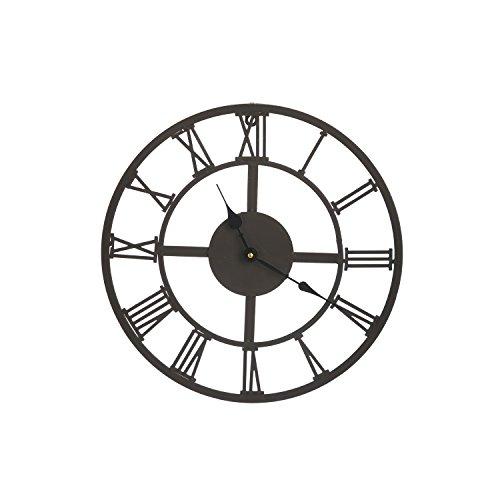 Cape Craftsmen Black Roman Numeral Outdoor Safe Metal Clock by Cape Craftsmen