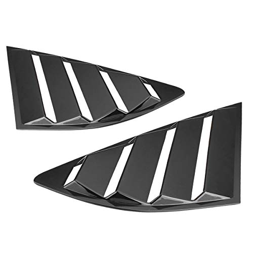 AjaxStore - Pair Quarter Louver Cover Vents Rear Side Window Car Styling For Ford Fusion for Mondeo 2013 2014 2015 ()