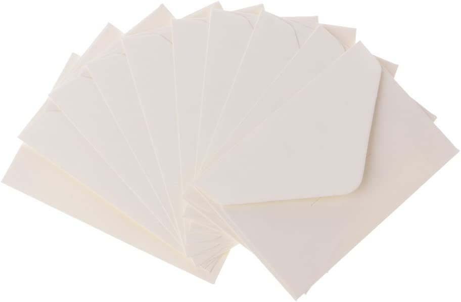 siwetg Lot de 50 enveloppes Vintage pour Cartes de Scrapbooking Blanc