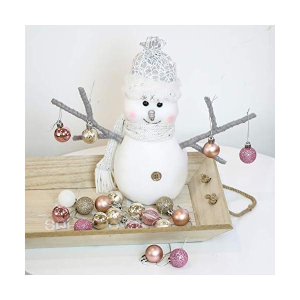 Victor's Workshop 49 Pezzi 3cm Palline di Natale, Ornamenti di Palle di Natale Infrangibili Rosa e Viola per la Decorazione Dell'Albero di Natale 7 spesavip