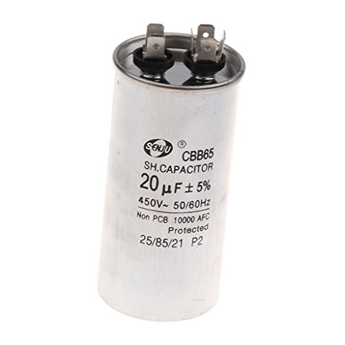 Dolity CBB65 Electrolytic Capacitors 20UF 450V Volt Round Motor Run Capacitor 4.4cm