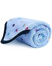 PAWZ Road Pet Dog Blanket Fleece Fabric Soft and Cute Blue S