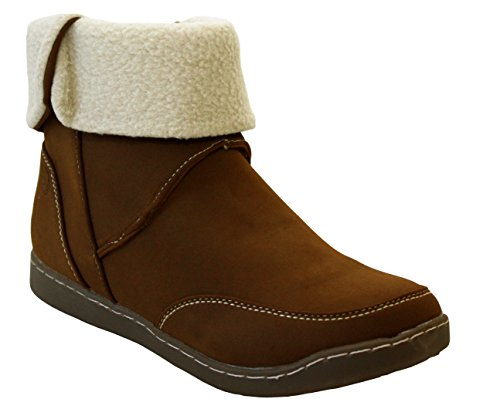 8 amp;H Ladies Ankle Sizes Womens Lined A 3 Casual UK Warm Footwear Winter Up Fleece Boots Zip Shoes Tan Snow Natrelle 1qwOHgd