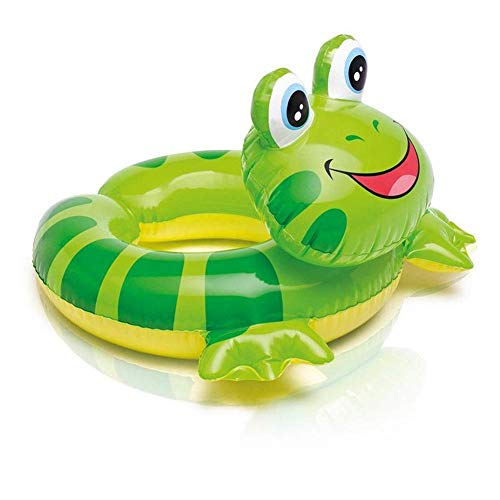 (Ksone Lovely Summer Baby Kids Safety Swimming Ring Inflatable Swim Float Water Animal Head Split Ring Pool Floats Bundle Includes Frog, Duck, Penguin, Giraffe, Frog, Penguin )