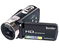 "Camera Camcorders, Besteker Portable 1080P 24MP 16X Digital Zoom Video Camcorder with 2.7"" LCD and 270 Degree Rotation Screen"