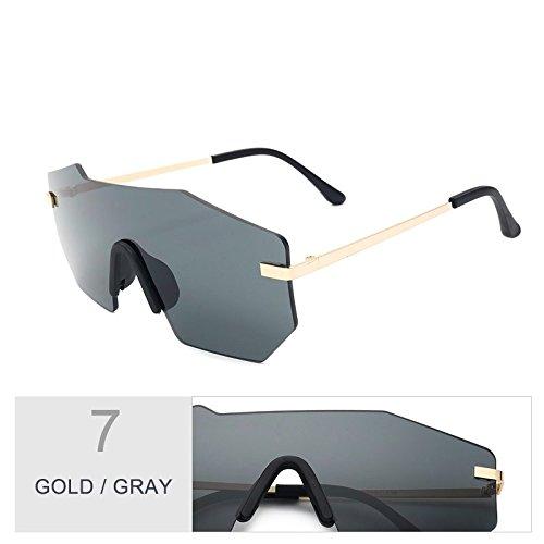 De Gafas Vintage TIANLIANG04 Silver Gray Gold De Gafas Silver Sol Mujer Sol Gafas Integrado qqwECU