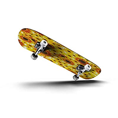 EFTOWEL Skateboards Photo Real Seamless Repeating Sunflower Pattern Sunflower Seamless Classic Concave Skateboard Cool Stuff Teen Gifts Longboard Extreme Sports for Beginners and Professionals : Sports & Outdoors